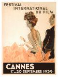 Cannesin elokuvajuhlat, 1939 Giclée-vedos tekijänä Jean-Gabriel Domergue