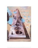 Aparição do rosto de Afrodite Posters por Salvador Dalí