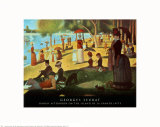 A Sunday on La Grande Jatte 1884, 1884-86 Plakat av Georges Seurat
