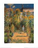 Le jardin de l'artiste à Vétheuil Posters par Claude Monet