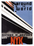 NYK Line Giclee Print by George Hemming