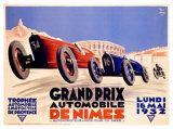 Grand Prix de Nimes, 1932 Giclee Print