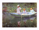 The Boat at Giverny Giclee Print by Claude Monet