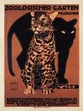 動物学の庭園, 1912 高画質プリント