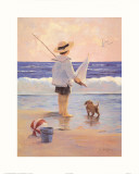 A Day at the Beach Art by Christa Kieffer