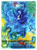 The Magic Flute Giclée-tryk af Marc Chagall