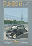 Paris 1961, 4Cv Posters by Bruno Pozzo