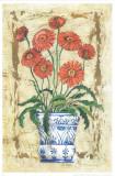 Ceramica Con Gerberas Art by A. Vega