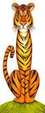 Tiger Pósters por Lesley Hallas