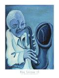 Blue Jazzman II Print by Patrick Daughton