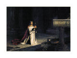 La veillée, 1884 Affiches par John Pettie