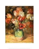 Tulpen in einer Vase Kunstdruck von Pierre-Auguste Renoir