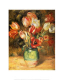Tulips in a Vase Poster by Pierre-Auguste Renoir