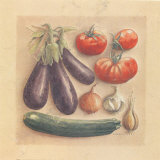 Vegetables III, Eggplants Prints by Laurence David