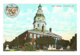 State Capitol, Annapolis, Maryland Art Print
