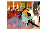 Salon Rue des Moulins Giclee Print by Henri de Toulouse-Lautrec