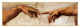 La création d'Adam, vers 1510, détail Affiches par  Michelangelo Buonarroti