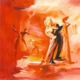 Romance in Red I Poster von Alfred Gockel