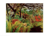 Überrascht– Sturm im Dschungel Kunstdrucke von Henri Rousseau