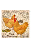 Country Buff Oringtons Giclee Print