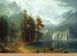 Sierra Nevada in California Posters by Albert Bierstadt