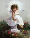 Baby Angel II Poster by Joyce Birkenstock