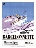 Barcelonnette Impression giclée par  Michel