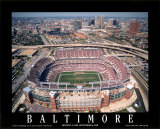 Baltimore - First Game at Raven Stadium at Camden Yards Posters by Mike Smith