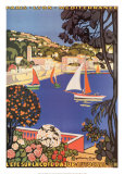 C&#244;te d&#39;Azur Kunstdrucke
