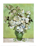 A Vase of Roses, c.1890 Kunst van Vincent van Gogh