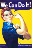 J. Howard Miller - Yaparız Biz! (Perçinci Rosie) (We Can Do It! (Rosie the Riveter)) - Afiş