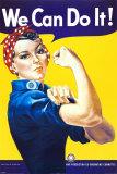 J. Howard Miller - Yaparız Biz! (Perçinci Rosie) (We Can Do It! (Rosie the Riveter)) - Poster