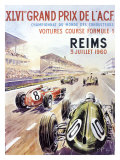 Reims F1 French Grand Prix, c.1960 Giclee Print