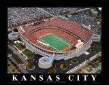 Kansas City Chiefs: Arrowhead-Stadion Kunstdrucke von Brad Geller