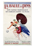 La Baule les Pins Reproduction procédé giclée par Leonetto Cappiello