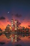 New York Skyline at Night Prints