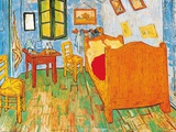 The Bedroom at Arles, c.1887 Kunst van Vincent van Gogh