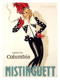Mistinguett Giclee Print by Jean-Dominque Van Caulaert
