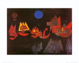 Schiffe im Dunkeln, c.1927 Poster af Paul Klee