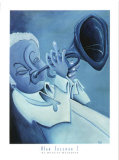 Blue Jazzman I Prints by Patrick Daughton