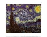 Stjärnklar natt, 1889 Affischer av Vincent van Gogh