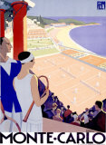 Monte Carlo Giclée-tryk af Roger Broders