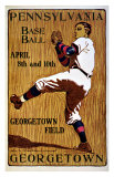Vintage Georgetown Baseball Giclee Print