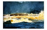 Fly Fishing Saguenay Giclee Print by Winslow Homer