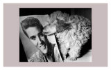Toy Poodle Kisses Elvis Poster