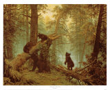 Morning in a Pine Forest Psters por Ivan Ivanovitch Shishkin