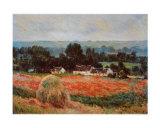 La Meule de Foin a Giverny Plakat af Claude Monet