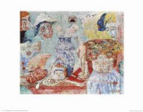 Still Life with Masks Print by James Ensor
