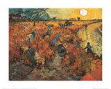 De rode wijngaard bij Arles, ca.1888 Print van Vincent van Gogh
