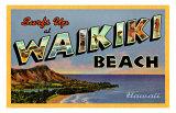 Waikiki Beach Giclee Print